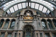 Centrale Post in Antwerpen, het binnenland van de Post Royalty-vrije Stock Afbeelding