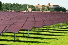 Centrale solaire Photo stock