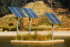 Centrale solaire. Images libres de droits