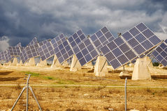 Centrale solaire Images stock