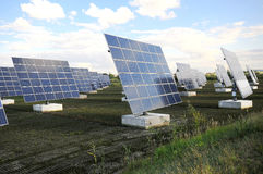 Centrale solaire image stock