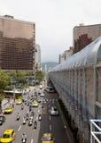 Centrale straat. Stedelijk vervoer. royalty-vrije stock afbeelding