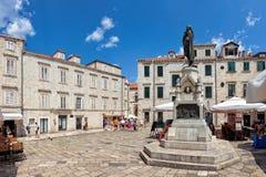 Centrale straat van de oude stad van Dubrovnik, Kroatië Royalty-vrije Stock Afbeeldingen
