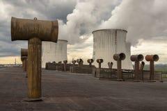 Centrale sur le charbon - Pologne images stock