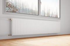 Centrale verwarming in bijlage aan muur Royalty-vrije Stock Fotografie