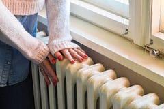 Centrale verwarming - op zwaar werk berekende radiator royalty-vrije stock afbeeldingen