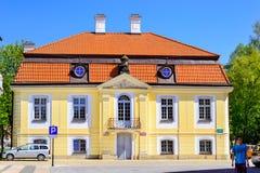Centrale vierkante Kosciusko-Markt Bialystok, Polen royalty-vrije stock foto's