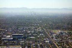 Centrale Weg aan Phoenix de stad in, AZ Stock Afbeeldingen
