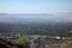 Centrale Weg aan Phoenix de stad in, AZ Stock Foto
