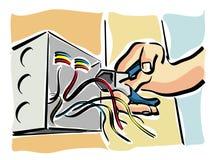 Centrales électriques illustration de vecteur