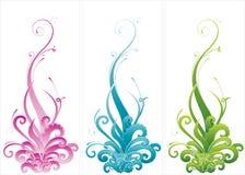 Centrales abstraites colorées illustration stock
