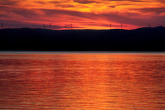 Centrales d'énergie éolienne Image stock