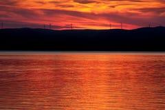 Centrales eléctricas de energía eólica Imagen de archivo