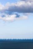 Centrales eléctricas de energía eólica fotos de archivo libres de regalías