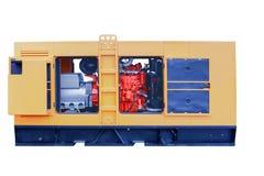 Centrales eléctricas diesel móviles potentes modernas Imágenes de archivo libres de regalías