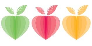 Centrales en forme de coeur illustration de vecteur