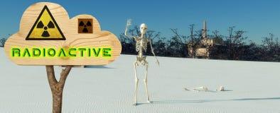 centrales nucléaires et courrier illustration stock