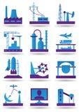 Centrales pour l'industrie lourd léger et illustration stock