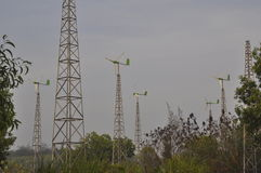 Centrali elettriche ibride Fotografia Stock Libera da Diritti