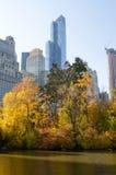 Centrali jesieni parkowa scena, Nowy Jork Zdjęcie Stock