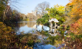 Centrali jesieni parkowa scena, Nowy Jork Obraz Stock
