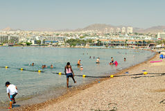 Centrali plaża Eilat, Izrael Obraz Stock