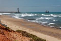 Centrali plaża w Sidi Ifni, Maroko fotografia royalty free