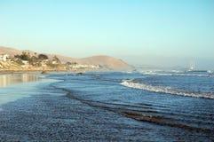 Centrali plaża przy zmierzchem, Kalifornia, usa Fotografia Stock