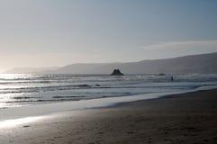 Centrali plaża przy zmierzchem, Kalifornia, usa Zdjęcie Stock