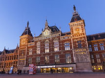 Centrali stacja Amsterdam Zdjęcia Royalty Free