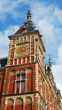 Zegarowy wierza w Amsterdam Zdjęcia Royalty Free