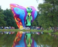 Centralia Illinois Balloon Festival. Hot air balloons around a lake in  Centralia, Illinois Stock Images