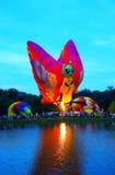 Centralia Illinois Balloon Festival. Hot air balloons around a lake in  Centralia, Illinois Stock Photos