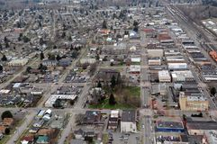 Centralia, Washington state. The gridded streets of old Centralia, Washington Stock Images
