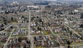 Centralia, Washington state. The gridded streets of old Centralia, Washington Stock Photo