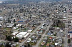 Centralia, Washington state. The gridded streets of old Centralia, Washington Stock Photography