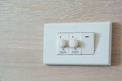 Centralino più tenue dell'interruttore della luce e del commutatore Fotografia Stock Libera da Diritti