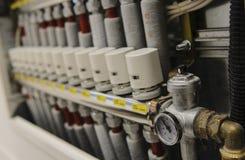 Centraliserat betingande system för uppvärmning och för luft Arkivbild