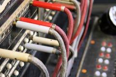 Centralita telefónica antigua del operador imagen de archivo