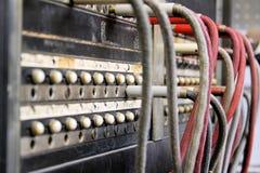 Centralita telefónica antigua del operador imagen de archivo libre de regalías