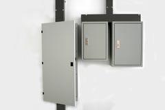 Centralita telefónica eléctrica en la pared imágenes de archivo libres de regalías