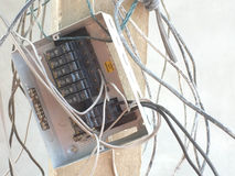 Centralita telefónica incompleta eléctrica Fotografía de archivo libre de regalías