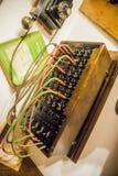 Centralita telefónica vieja del teléfono Imágenes de archivo libres de regalías