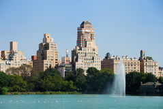 centralne miasto fontanna nowy parkowy York obraz stock