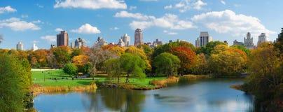 centralnego miasta Manhattan nowy panoramy park York Zdjęcie Royalty Free
