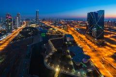 Centralpark przy nocą Incheon, Południowy Korea Fotografia Stock