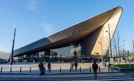 Centralstation i Rotterdam Arkivfoton