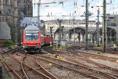 Centralstation på Augusti 11, 2014 i Cologne, Tyskland Arkivfoton
