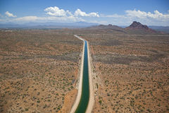Centralt Arizona projekt nära Scottsdale, Arizona Fotografering för Bildbyråer