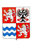 Centralt Bohemia emblem Royaltyfria Bilder